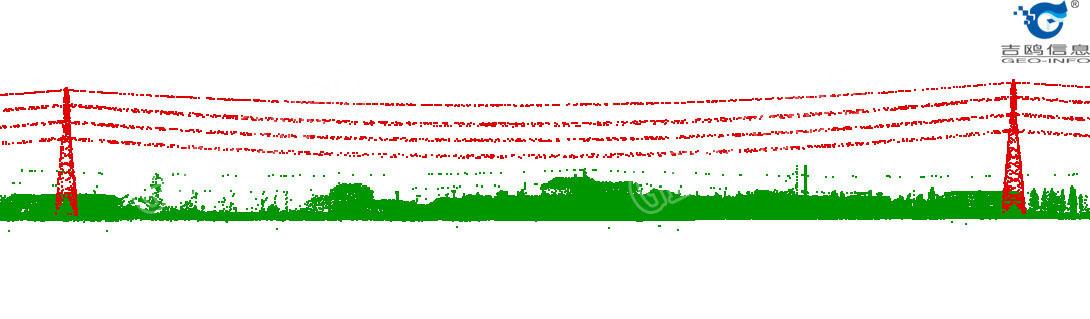 线路走廊点云侧视图(GL-70/Dragon35)