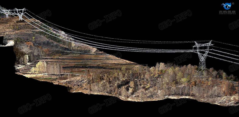 线路走廊彩色点云图(GL-70/有人直升机)