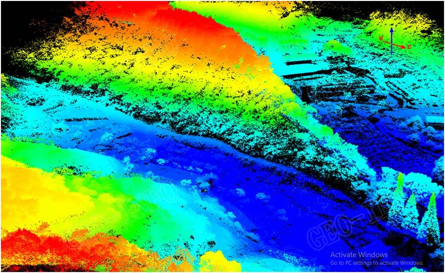 一个利用GLV激光雷达系统 获取植被茂密丘陵地区高程模型的真实案例